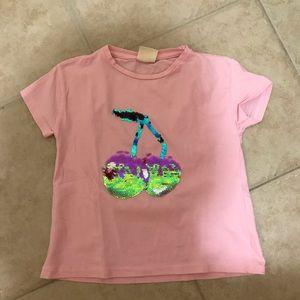Zara girls changing color sequin top